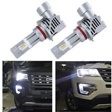 2pc Cold White LED Fog Lamp Headlight DRL Lights Bulbs For 2016-up Ford Explorer