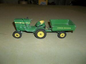 Vintage 1/16 John Deere 110 1/2 Yellow Seat Farm Lawn Garden Tractor W/Cart !