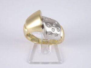 5Damenring bicolor m.Brillanten 0,18ct   18Kt/750er Gold   Gr.52   Eyecatcher!!!