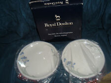 """Royal Doulton Minerva 2 X 6"""" Side Plates Boxed Made in England"""