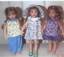 "Sewing Pattern fits 7.5"" doll  Riley Kish Tiny Betsy elf Lati Yellow dolls BJD."
