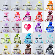 12-720 BULK Organza Wedding Party Favor Gift Candy Sheer Nylon Bag Jewelry Pouch