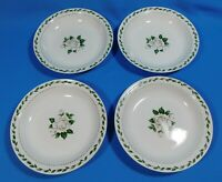 "4 Vintage Hall China Cameo Rose Soup Bowls 7.75"""