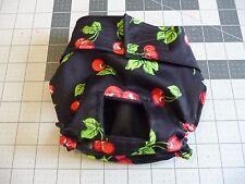 Black Cherries Female Dog Diaper Panty Adjust Elastic Carols Crate Covers