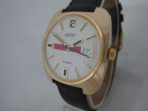 NOS NEW VINTAGE MECHANICAL HAND WINDING BIG NAPPEY MEN'S ANALOG WATCH WITH DATE