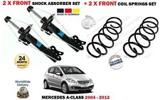 FOR MERCEDES A CLASS ALL W169 2004->2X FRONT SHOCK ABSORBER SET + 2X COIL SPRING