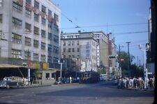 1950's Red Border 35 mm Film Slide Japan  Street View S2