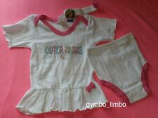 Baby Girl 24 Mo NWT Outer Banks North Carolina White 3 PC DRESS SET Rhinestones