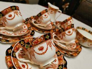 Royal Albert Partial Tea Set in Imari Palette
