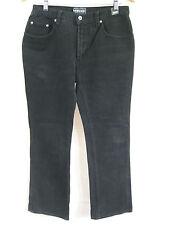 Versace Size 32 or 12 Black Denim Hipster Bootleg Jean