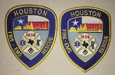 Houston Fire Dept Patch Set - Fire - EMS / Rescue - Texas - Lot of 2 Patches