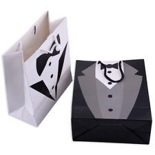 2pcs Wedding Tuxedo Paper Pouch Gift Bag for Bride Bridegroom Wedding Favor ti