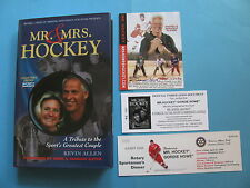 MR. & MRS. HOCKEY 2004 GORDIE HOWE AUTOGRAPHED BOOK W/ AUTOGRAHPED CARD