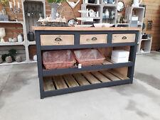 Rustic, Chunky Solid Pine Kitchen Island / Breakfast bar, Handmade