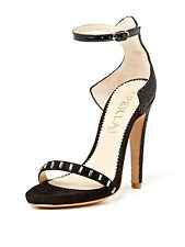 APERLAI Crystal Embellished Caviar Heels Sandal Shoes Pumos NWB SIZE 38 $1,140
