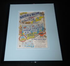 1988 Kool Aid Berry Blue Framed 11x14 ORIGINAL Vintage Advertisement