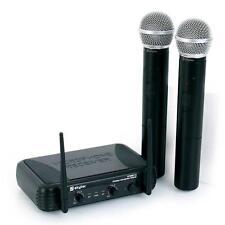 SKYTEC WIRELESS MICROPHONE SET 2 HANDHELD MICS KARAOKE *FREE P&P SPECIAL OFFER