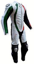 Tuta Moto Intera in Vera Pelle Bovina Mod: Tricolore Forli Taglia 4XL . 58