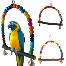 AC_ Colorful Bird Toy Parrot Swing Cage Stand Frame Budgie Hanging Hammock _GG
