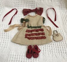 One of A Kind Christmas Outfit for Bleuette Doll by Bluebird Textiles No Shoes