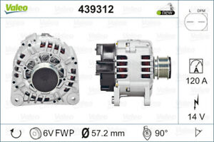 Valeo Alternator 439312 fits Volkswagen LT 28-35 2.5 TDI (2D) 61kw, 2.5 TDI (...