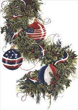 Americas Garland - Box of 18 Patriotic Christmas Cards by LPG Greetings