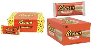 REESE'S PIECES - WHITE FULL BOX 24  COUNT (39gram) * CHEAP BARGAIN WHOLESALE