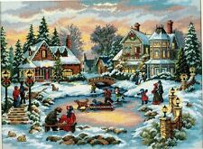 Dimensions Gold Xmas Holiday Village Cross Stitch Kit A TREASURED TIME USA 1998
