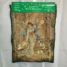 Angel Tapestry Lighted Wall Hanging Christmas year round NIP