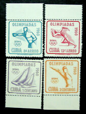 1960 Latin America, Rome Olympics, 17th Olympic Games, 4 Stamps, MNH