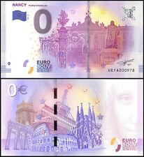 Zero (0) Euro Europe, 2017 - 2 (2nd Print), UNC, Nancy Place Stanislas in France