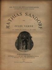 MATHIAS SANDORF PRIMA EDIZIONE VERNE JULES J. HETZEL ET CIE 1885
