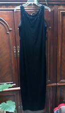 Women's Black Evening black velvet Long Dress size 14 pre_owend .