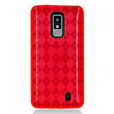 For LG Spectrum VS920 TPU Candy Flexi Gel Skin Case Phone Cover Red Plaid