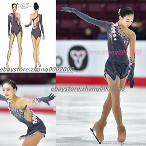 TOP Design Ice Figure Skating Dress/Baton Dance Twirling Tap Costume
