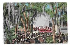 Band Concert Williams Park, St. Petersburg, Florida Vintage Postcard w/Stamp