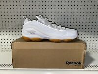 Reebok DMX Run 10 Gum Mens Leather Athletic Running Shoes Size 8 White CN3568