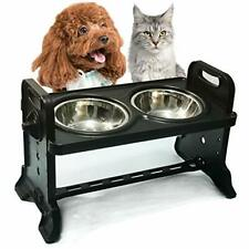 Height-Adjustable Cat BowlRaised Cat Food Bowls Anti VomitingTilted Elevated .