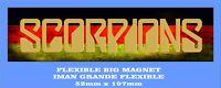 SCORPIONS FLAG GRANDE 52mm X 197mm FLEXIBLE BIG MAGNET A0092