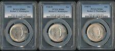 1946-P, D & S Booker T. Washington Commemorative Half Dollar Set of 3 PCGS 66