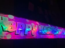 Pink 14th Birthday banner LED flashing light up Party decoration Happy Birthday
