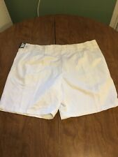IZOD Men's Metrix Fit Easy Care Microfiber Shorts, Sz 46, White, New w/Tag