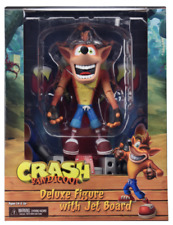 Crash Bandicoot with HoverBoard 7 Inch 18cm Deluxe Box Action Figure NECA