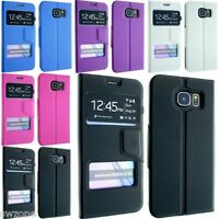 FOR SAMSUNG GALAXY S6 SM-G920F S6 EDGE LEATHER CASE COVER FLIP SCREEN PROTECTOR