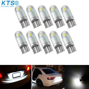 10x T10/921/194 12V Xenon 6000K White LED Lights Bulbs Interior lights