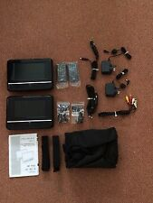 """Wharfedale Twin Mobile DVD Players wth 7"""" LCD + In-Care Portable DVD Travel Kit"""