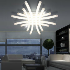 40 Watt SMD LED Design Decken Lampe Küchen Beleuchtung Haus Flur Leuchte Chrom