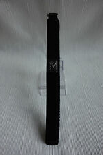 Nylon Hook & Loop Watch Strap Band 16mm for Boys & Girls - Colour Black