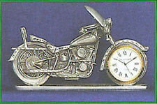 MOTORCYCLE CLOCK FINE PEWTER CLOCK IN FRONT WHEEL