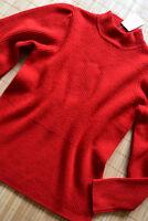 HALLHUBER wunderschöner Pullover Gr. XL 42 44 neu Wolle & Kaschmir Rot